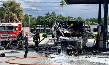 Osceola County Fire Rescue extinguishes RV fire at Kissimmee 7-Eleven gas pump