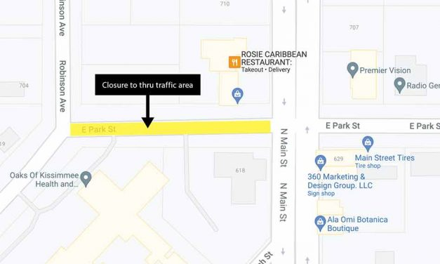 Park St. will remain closed to thru traffic between Main St and Robinson Ave/Mitchell St through July 30 for sewer repair