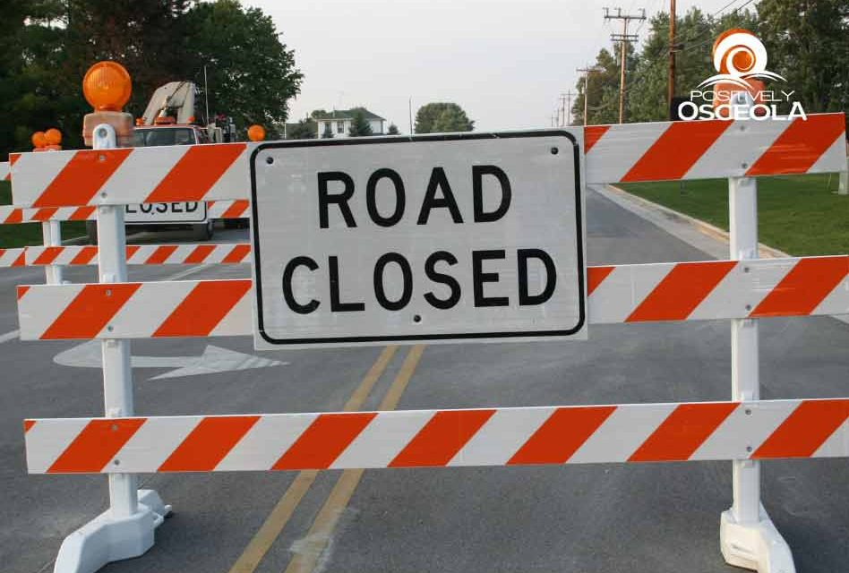 Northbound lane on Poinciana Blvd near US 192 is closed due to road depression, Toho Water Investigating