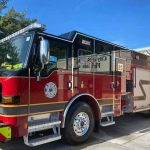 """St. Cloud Fire Rescue welcomes new Engine 32 with """"wetdown"""" and """"pushback"""" ceremony"""