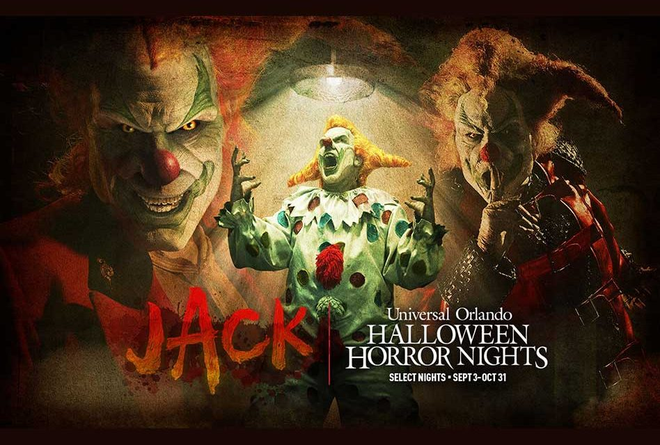 """Universal Orlando announces return of """"Jack the Clown"""" to Halloween Horror Nights, Tickets on Sale!"""