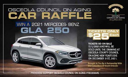 Osceola Council On Aging's 2021 Car Raffle, Buy a Ticket – Feed Three Seniors!