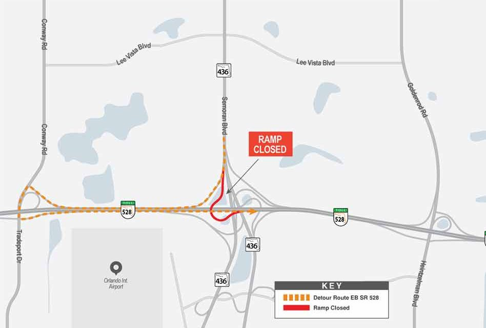 Construction Alert: Overnight SR 528/SR 436 Interchange Closures