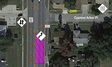 Shifting lane closures on Michigan Ave between Mill Creek Cir and Cypress Arbor Pl extended through August 16