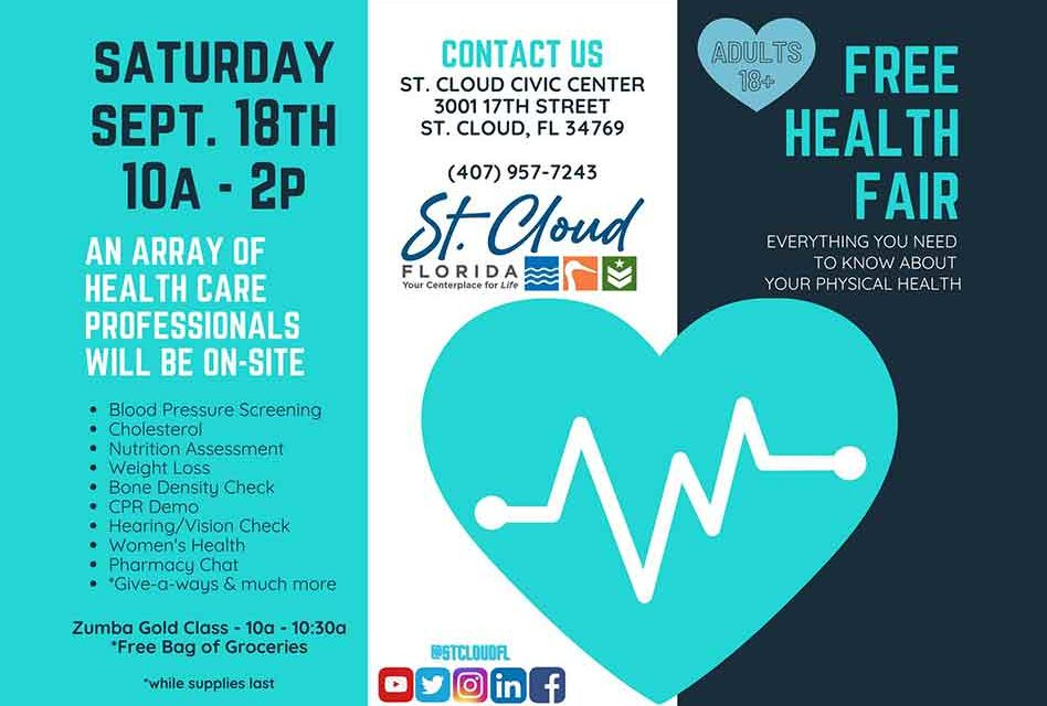 City of St. Cloud to Host Free Health Fair September 18
