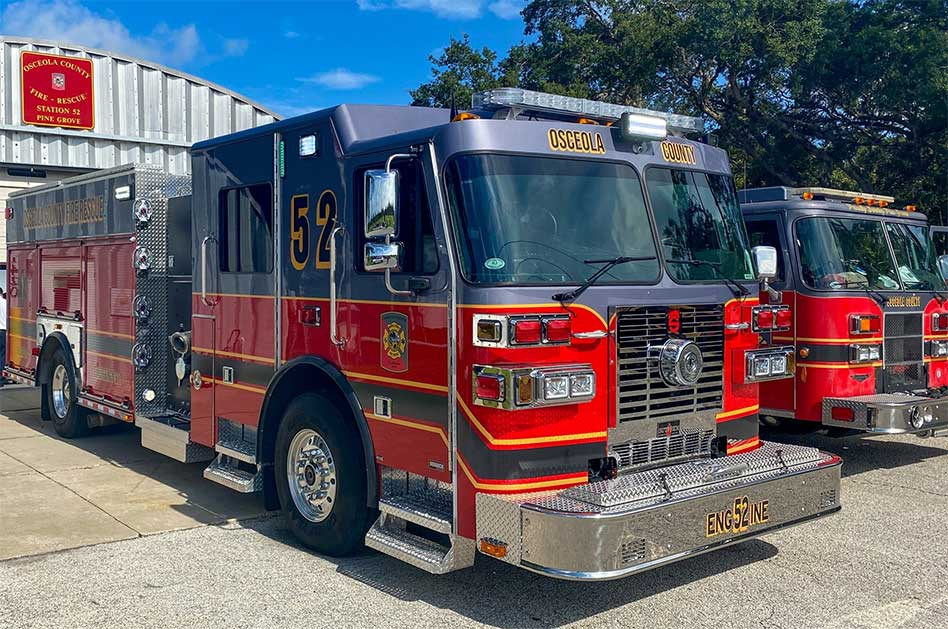 Osceola County puts new fire engine into service at Station 52 on Pine Grove