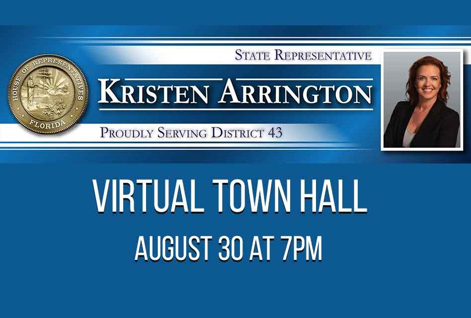 Rep. Kristen Arrington to host Virtual Town Hall August 30
