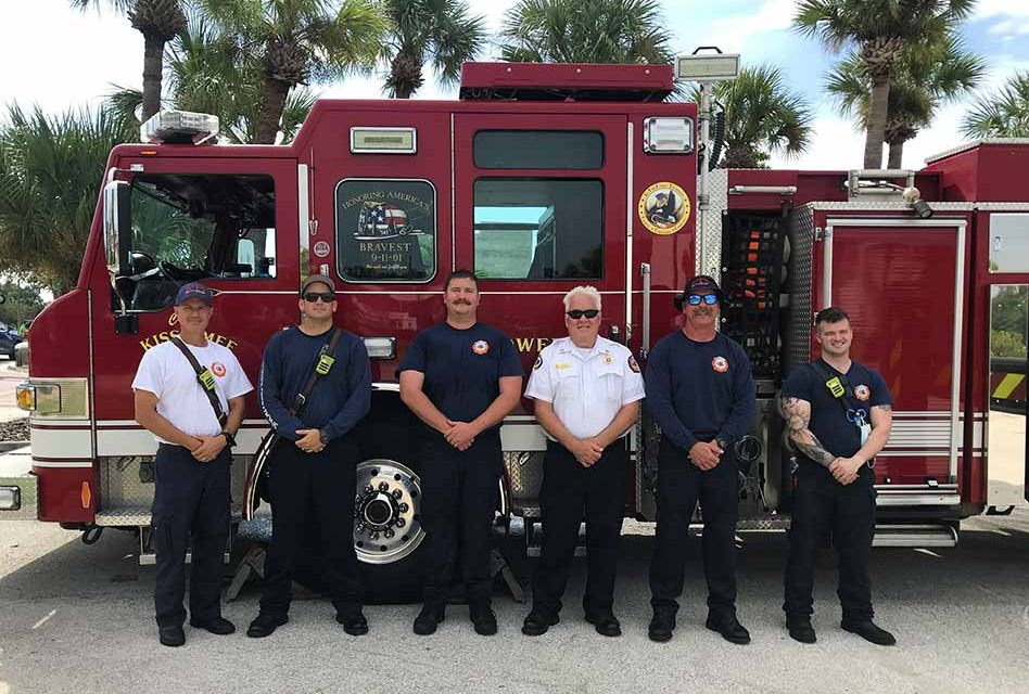 Kissimmee Fire Department Flies the U.S. Flag High on 20th Anniversary of 9/11