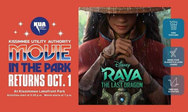 KUA to kick off Free Movie in the Park Series Friday October 1 at Kissimmee Lakefront Park