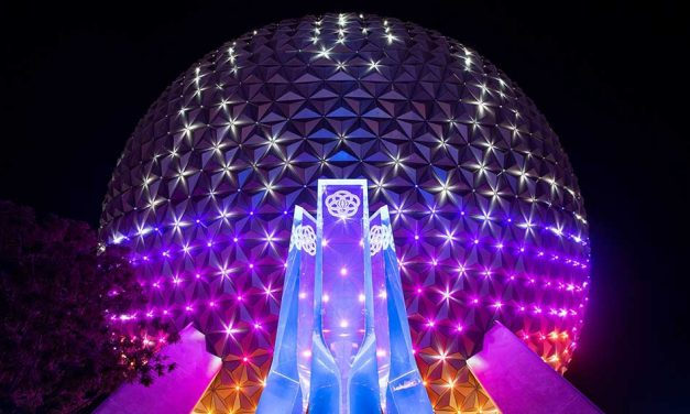 """First look at new """"Beacons of Magic"""" Lighting in Epcot"""