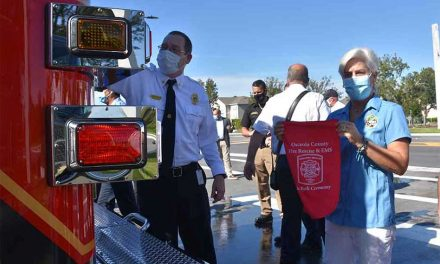 """Osceola County officially places Engine 63 into service during """"Push Back"""" ceremony"""