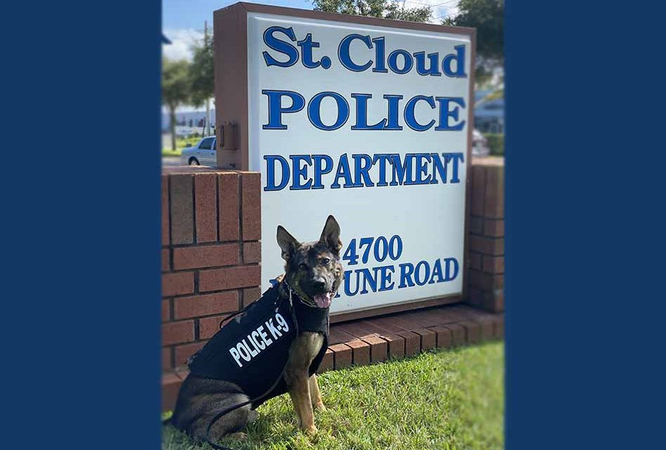 St. Cloud Police Department's K9 Koda receives bullet and stab protective body armor donation