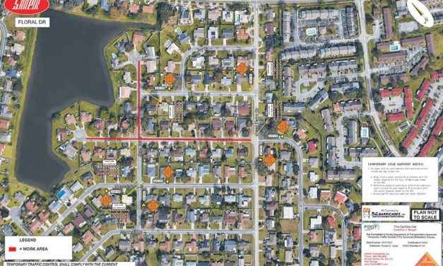 Floral Dr/Ct and Laurel Way area will close to thru traffic starting Wednesday, October 27