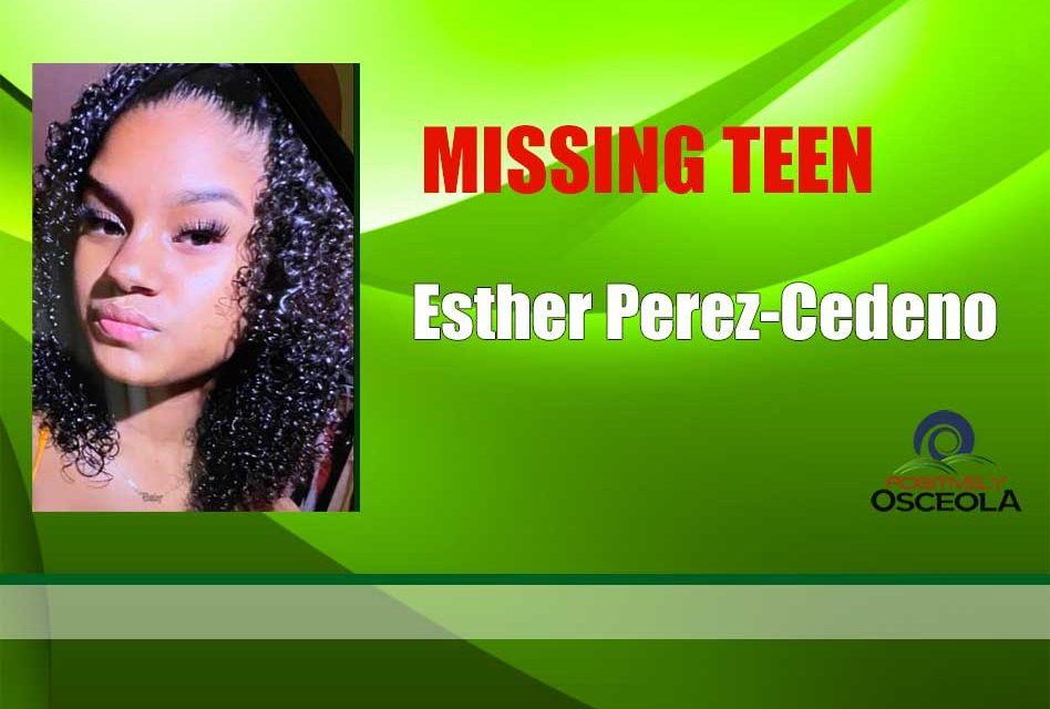 Osceola Sheriff's Office Requesting Public's Help in Finding Missing 14-year-old