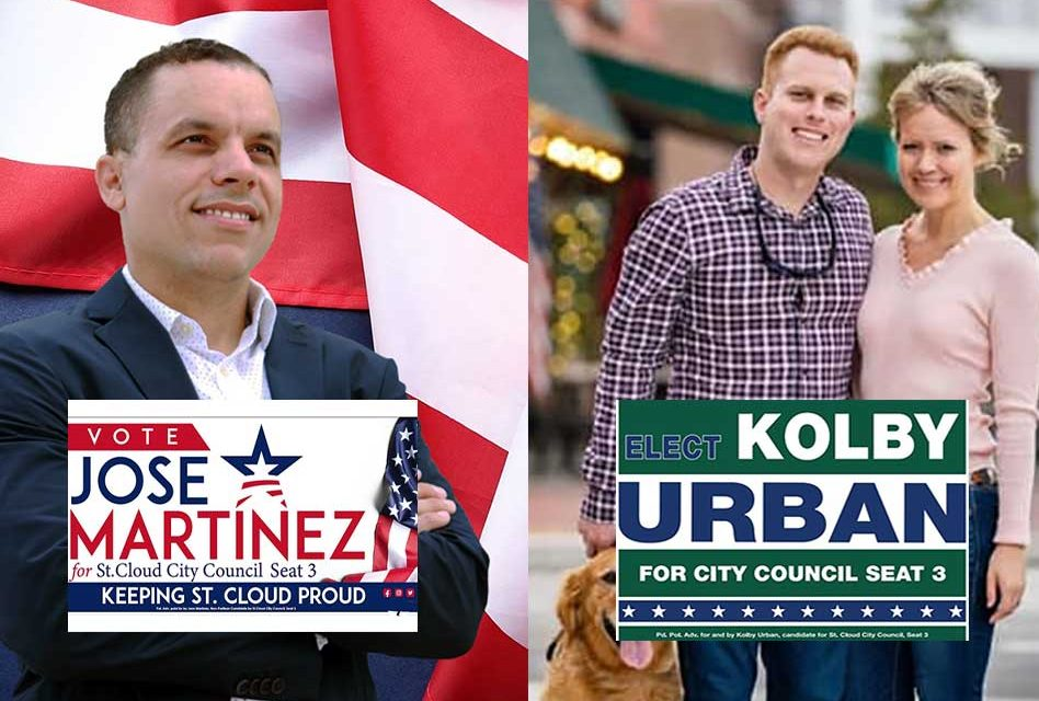 Kolby Urban and Jose' Martinez move on to November 9 election for St. Cloud City Council Seat 3
