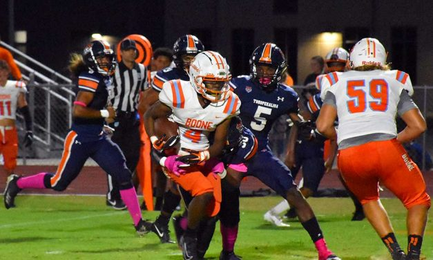 Toho Tigers No Match for Boone Braves Thursday Night, Drops 49-0 at Home